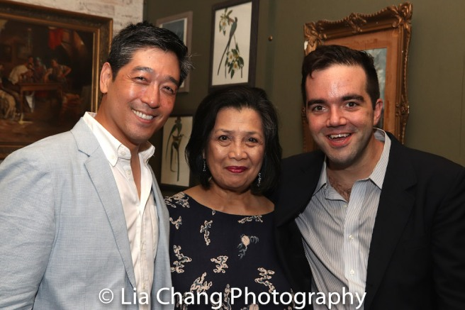 Paul Juhn, Mia Katigbak and Stephen Brown-Fried. Photo by Lia Chang