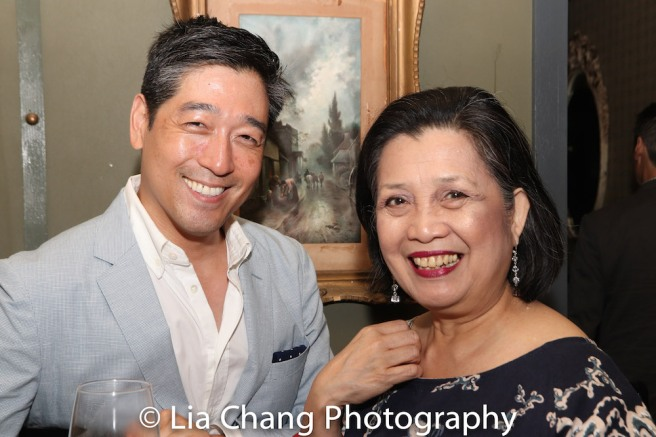 NAATCO Associate Producer Peter Kim and Artistic Director Mia Katigbak. Photo by Lia Chang
