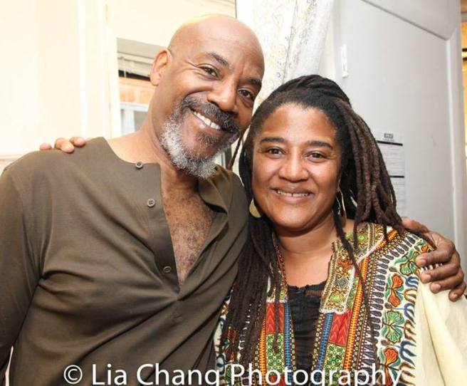 John Earl Jelks and Lynn Nottage. Photo by LIa Chang
