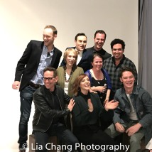 Lucas Van Engen, Garth Kravits, Susan G. Bob, Pamela Bob, Matt W. Cody, Mary Theresa Archbold, Paul Moon, Alex Altomonte, and Evan Daves of Livin on a Prairie pose for a portrait with Matt Doyle during the 2018 Tribeca TV Festival on September 22, 2018 in New York City. Photo by Lia Chang