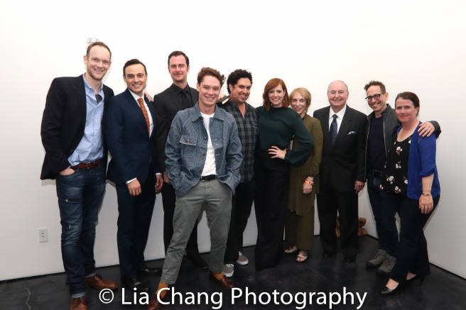 Lucas Van Engen, Matt W. Cody, Paul Moon, Evan Davies, Alex Altomonte, Pamela Bob, Susan G. Bob, Gilbert Bob, Garth Kravits and Mary Theresa Archbold pose for a portrait during the 2018 Tribeca TV Festival on September 22, 2018 in New York City. Photo by Lia Chang