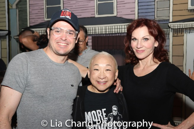 Mitchell Jarvis, Lori Tan Chinn, Marilu Henner. Photo by Lia Chang