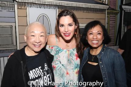 Lori Tan Chinn, Kelli Barrett and Baayork Lee. Photo by Lia Chang