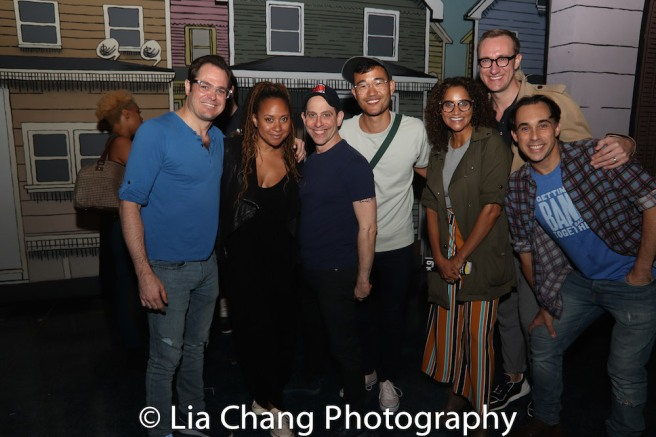 Mitchell Jarvis, Tracie Thoms, Garth Kravits, Daniel K. Isaac, Talia Thiesfield, Adam Porter Smith, Ryan Duncan. Photo by Lia Chang
