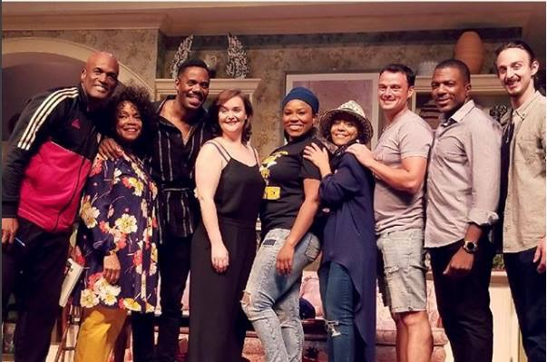 Director Kenny Leon, Denise Burse, Playwright Colman Domingo, Rhynn Saver, Amber A. Harris, Tinashe Kajese-Bolden, Lee Spencer Osorio, Gilbert Glenn Brown and Bendetto Robinson. Photo courtesy of Gilbert Glenn Brown/Facebook