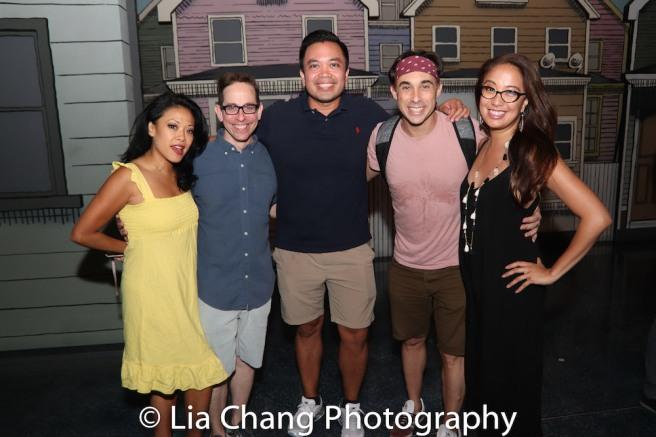 J. Elaine Marcos, Garth Kravits, Jose Llana, Ryan Duncan, Jaygee Macapugay. Photo by Lia Chang