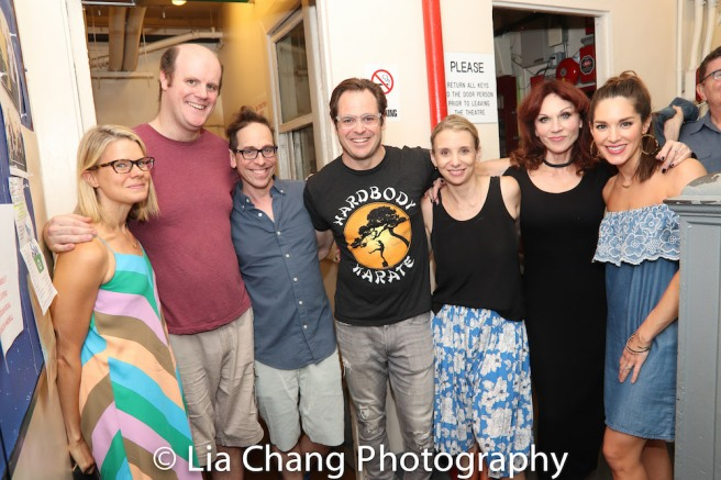 Celia Keenan-Bolger, Paul Whitty, Garth Kravits, Mitchell Jarvis, Sarah Saltzberg, Marilu Henner and Kelli Barrett. Photo by Lia Chang