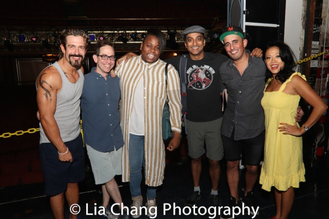 Brandon Williams, Garth Kravits, Alex Newell, Nehal Joshi and J. Elaine Marcos. Photo by Lia Chang