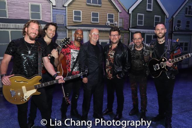 Mike, Justin Rothberg, Kevin Ramessar, Paul Shaffer, Sonny Paladino, Joe Bergamini and Mark. Photo by Lia Chang