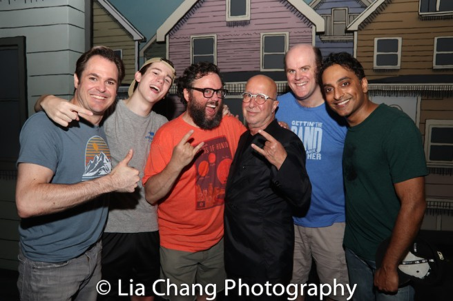 Mitchell Jarvis, Sawyer Nunes, Jay Klaitz, Paul Shaffer, Paul Whitty and Manu Narayan. Photo by Lia Chang
