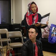 Kennedy Kanagawa (Jack) and Lydia Gaston (Jack's Mother). Photo by Lia Chang