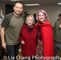 David Shih (the Wolf), Virginia Wing (Grandmother), Alex Chester (Little Red Ridinghood). Photo by Lia Chang