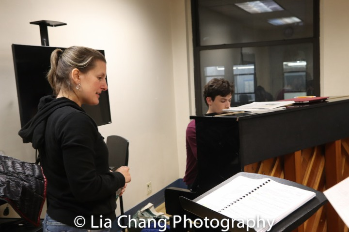 Kristen Lee Rosenfeld (Conductor/Music Director) and Griffin Strout (Associate Musical Director). Photo by Lia Chang