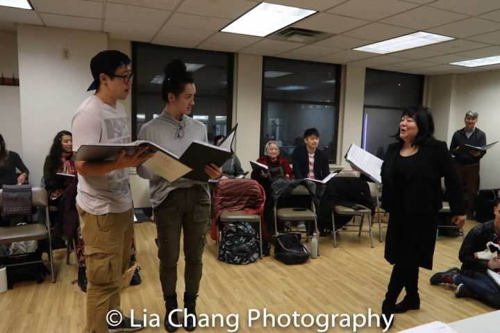 Raymond J. Lee (The Baker), Joanna Carpenter (Baker's Wife) and Ann Harada (the Witch). Photo by Lia Chang