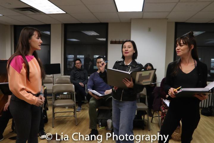 Katie Mariko Murray (Cinderella), ReBecca Lee Lerman (Lucinda), Kimbirdlee Fadner (Florinda). Photo by Lia Chang