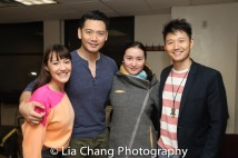 Katie Mariko Murray (Cinderella), Karl Josef Co (Cinderella's Prince), Xiaoqing Zhang (Rapunzel) and Daniel J. Edwards (Rapunzel's Prince). Photo by Lia Chang