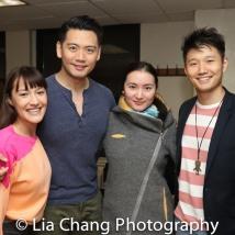 Katie Mariko Murray (Cinderella), Karl Josef Co (Cinderella's Prince), Xiaoqing Zhang (Rapunzel) and Daniel J. Edwards (Rapunzel's Prince). Photo by Lia Chang