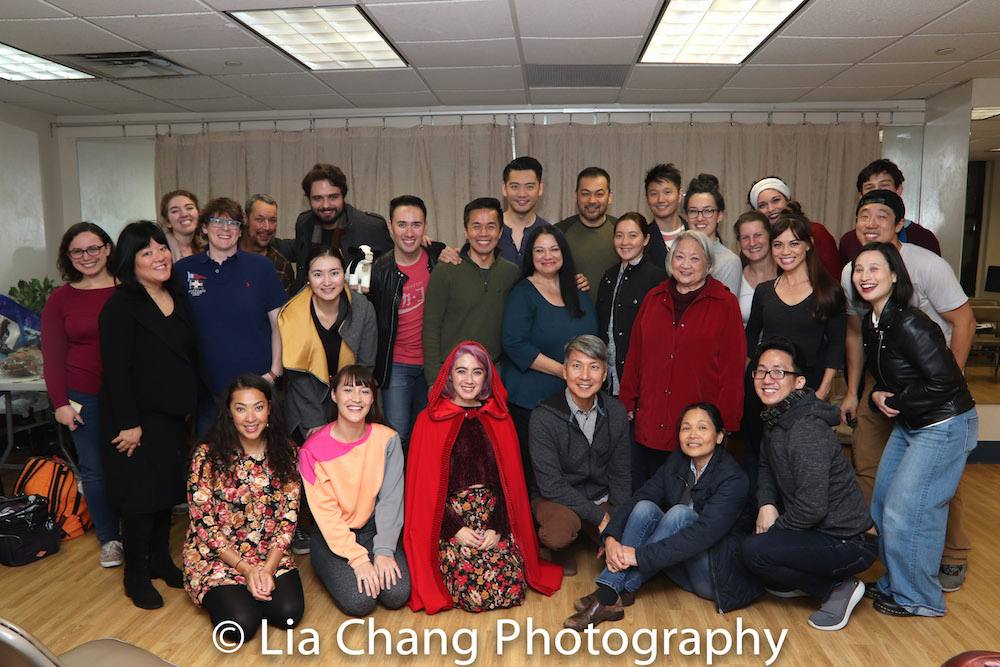 The Company of INTO THE WOODS. Photo by Lia Chang