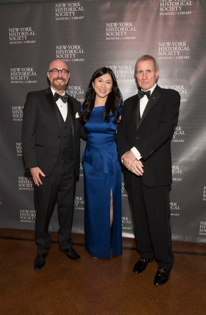 New-York Historical Society's History Makers honorees Arthur A. Levine, Dr. H. M. Agnes Hsu-Tang and Jim Dale. Photo by Lia Chang