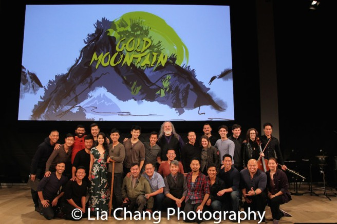The company of GOLD MOUNTAIN at TheTimesCenter in New York on October 20, 2017. Photo by Lia Chang
