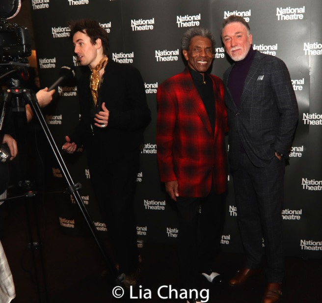 Reeve Carney, André De Shields, Patrick Page. Photo by Lia Chang