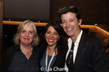 Lisa Peterson, HADESTOWN Director Rachel Chavkin and Set Designer Rachel Hauck. Photo by Lia Chang