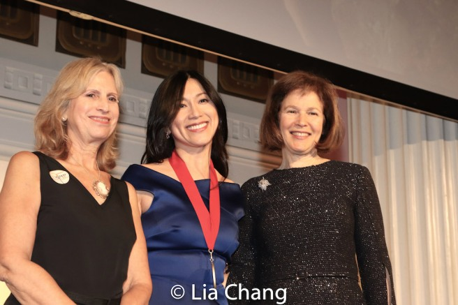 Louise Mirrer, President and CEO, New-York Historical Society, honoree Dr. H.M. Agnes Hsu-Tang, and Pam B. Schafler, Chair, New-York Historical Society. Photo by Lia Chang
