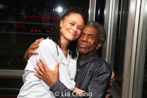 Amber Gray and André De Shields. Photo by Lia Chang
