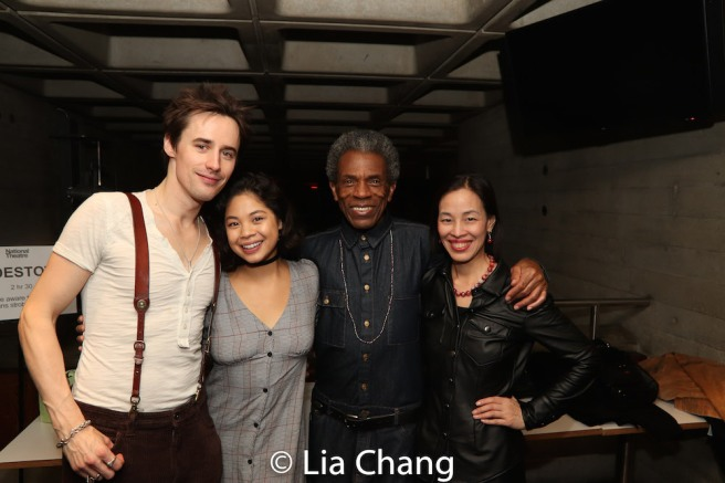 Reeve Carney, Eva Noblezada, André De Shields and Lia Chang. Photo by Liam Robinson