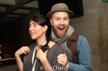 Director Rachel Chavkin and Music Director and Vocal Arranger Liam Robinson. Photo by Lia Chang