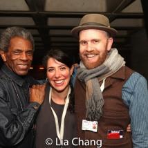 André De Shields, Director Rachel Chavkin and Music Director, Vocal Arranger Liam Robinson and Set Designer Rachel Hauck. Photo by Lia Chang