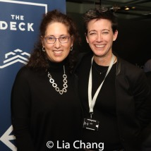 Co-producer Mara Isaacs and Set Designer Rachel Hauck. Photo by Lia Chang