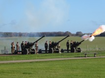 A 300 gun salute at Stonehenge for Remembrance Day on November 11, 2018. Photo by Lia Chang