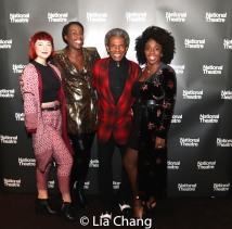 Rosie Fletcher, Gloria Onitiri, André De Shields and Carly Mercedes Dyer. Photo by Lia Chang