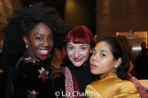 Carly Mercedes Dyer, Rosie Fletcher and Eva Noblezada. Photo by Lia Chang