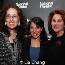 Director Rachel Chavkin is flanked by co-producers Mara Isaacs and Dale Franzen. Photo by Lia Chang