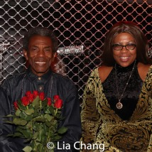 André De Shields and Jacqueline Malcolm at The Royal National Theatre in London. Photo by Lia Chang