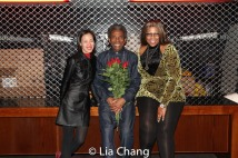 Lia Chang, André De Shields and Jacqueline Malcolm at The Royal National Theatre in London.