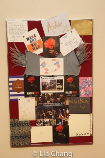 A montage of opening night cards. Photo by Lia Chang