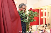 In the dressing room with André De Shields at The Royal National Theatre in London. Photo by Lia Chang