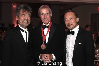 Playwright David Henry Hwang, honoree Jim Dale, Rob Wong. Photo by Lia Chang