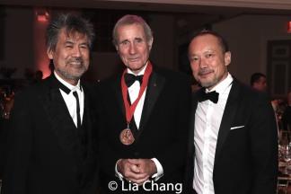 Playwright David Henry Hwang, honoree Jim Dale, Rob Wong. Photo by Lia Chang