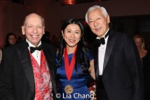 Byron Wien, New-York Historical Society trustee, honoree Dr. H.M. Agnes Hsu-Tang, Oscar Tang. Photo by Lia Chang