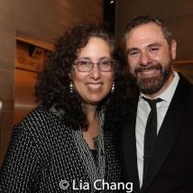 Mara Isaacs and Jeremy Blocker, Managing Director at New York Theatre Workshop. Photo by Lia Chang