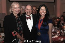 Lena Kaplan, Rick Reiss, NYHS Board Chair, Executive Committee, honoree Dr. H.M. Agnes Hsu-Tang. Photo by Lia Chang
