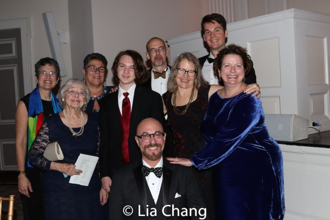 Honoree Arthur A. Levine with his family and friends. Photo by Lia Chang