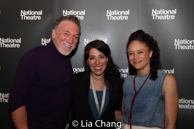 Patrick Page, Rachel Chavkin and Amber Gray. Photo by Lia Chang