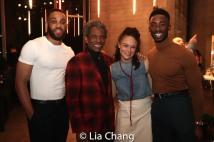 Shaq Taylor, André De Shields, Amber Gray, Jordan Shaw. Photo by Lia Chang