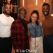 Shaq Taylor, André De Shields, Amber Gray, Jordan Shaw. Photo by Lia Chang