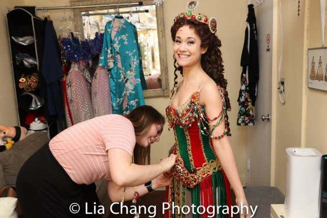 Ali Ewoldt in the dressing room at The Majestic in New York. Photo by Lia Chang